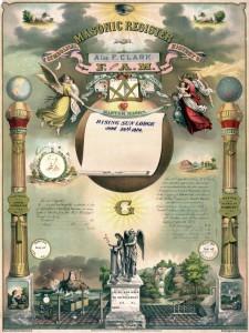 Tempelarbeit mit Aufnahme und Tafelloge I. Grad